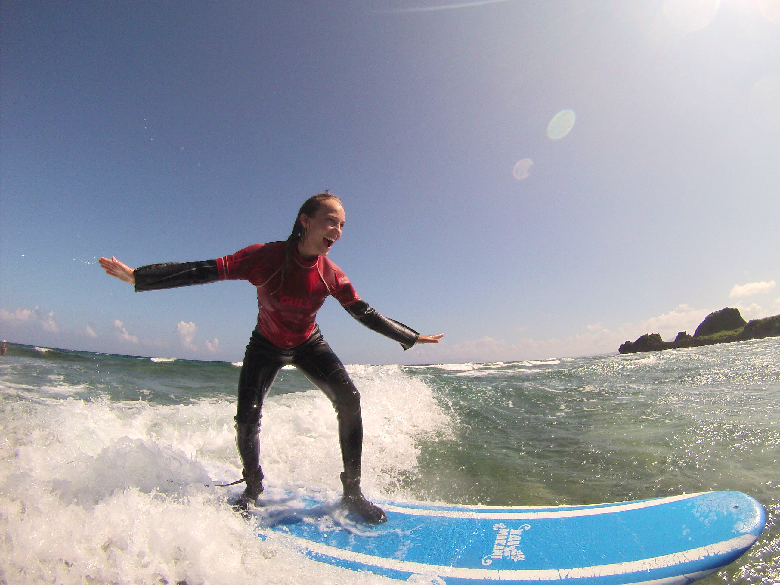 Surfing for the first time2