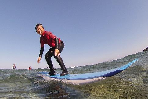 家族で初めてのサーフィン
