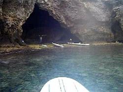 青の洞窟入口上陸