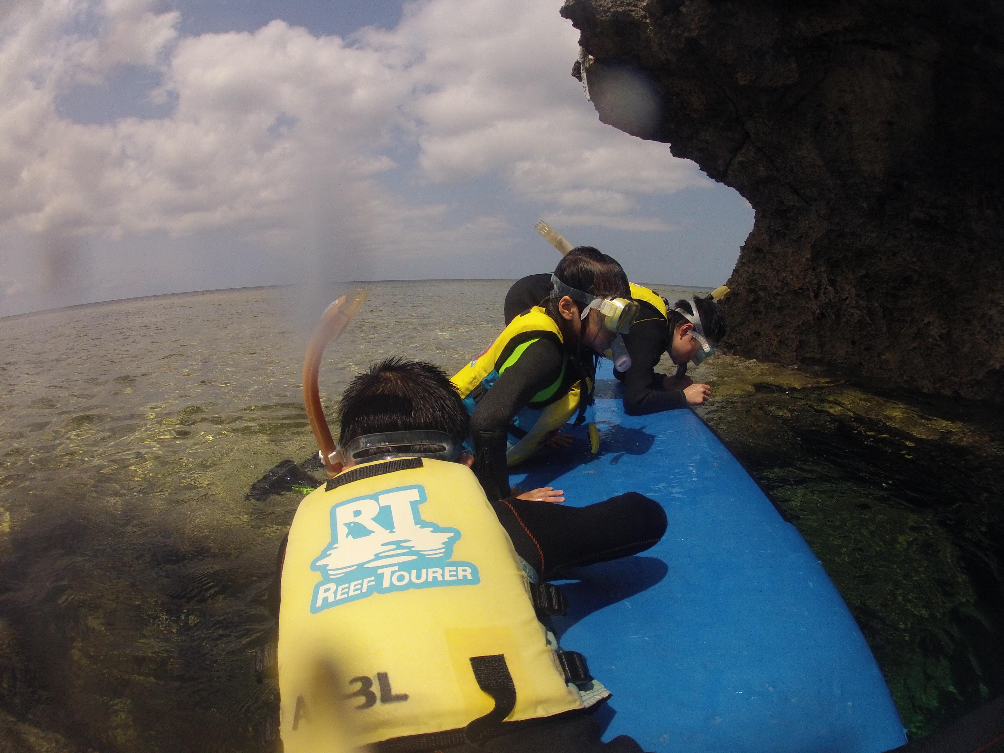 沖縄の簡易クルージングとシュノーケリング