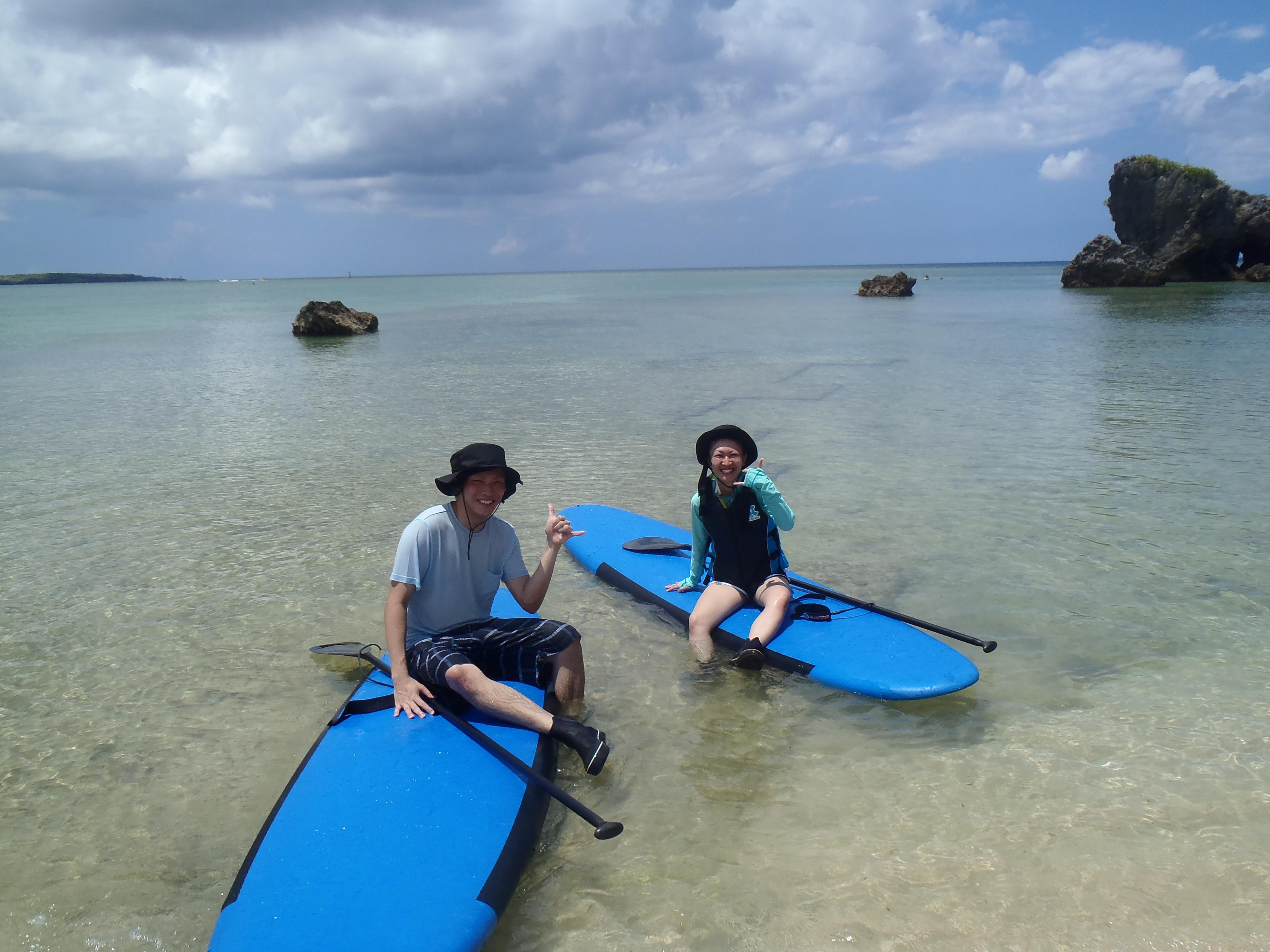 沖縄スタンドアップでのんびりクルージングで遊ぼう
